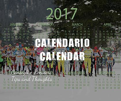 THE CALENDAR OF THE MAIN XC SKIING RACES 2016-2017
