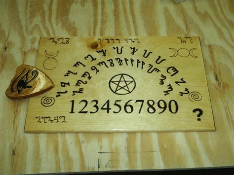 Theban Alphabet Witches Board Ouija Style by DragonOak