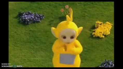 Teletubbies-Laa Laa and a magnifisant fountain - YouTube