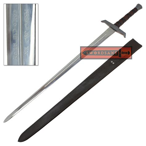 King Arthur Excalibur Sword Inscribed Full Tang Steel