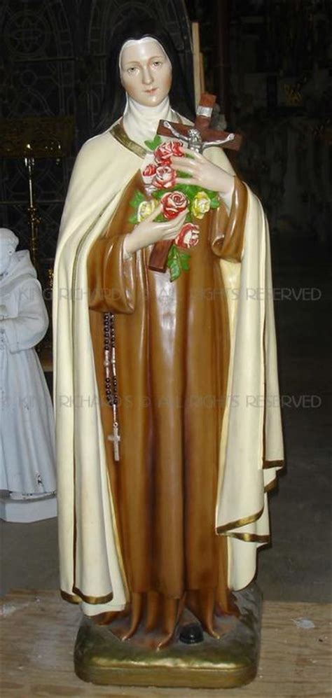 St-Therese-of-Lisieux - Vintage Plaster Statue Of St