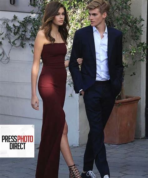 Kaia Gerber and her brother | Kaia gerber style, Prom