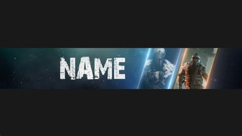 Create awesome gaming youtube banner or channel art by