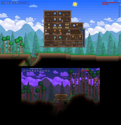 I always thought that the sky in Terraria was a little bit