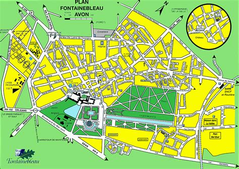 Fontainebleau France Map