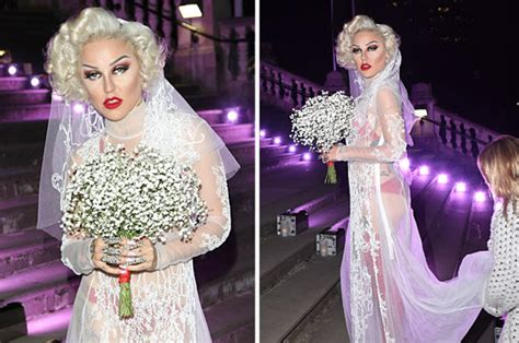 Brooke Candy flashes pants in completely see-through