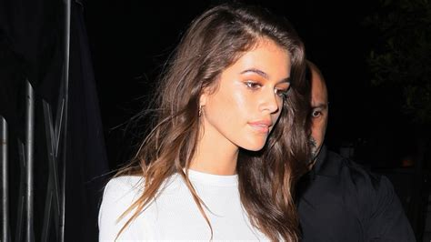 Kaia Gerber Steps Out in Mile-Long Legs in L