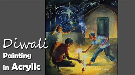 Acrylic Painting : A Composition on Diwali(Festival of