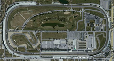 Maps of the Indy Motor Speedway - Grandstand Maps