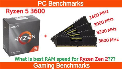 Ryzen 5 3600 Tested With Different RAM Speeds - YouTube