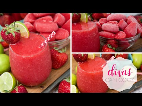 No Bake Strawberry Daiquiri Cheesecake Parfaits - Inside