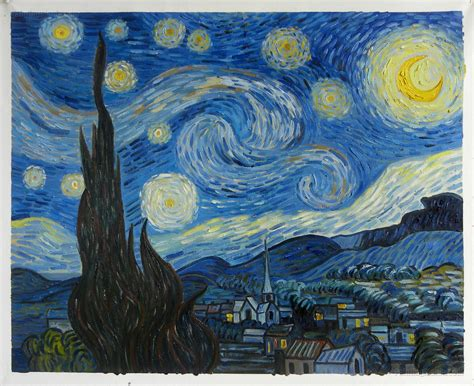 The Starry Night - Vincent van Gogh Paintings