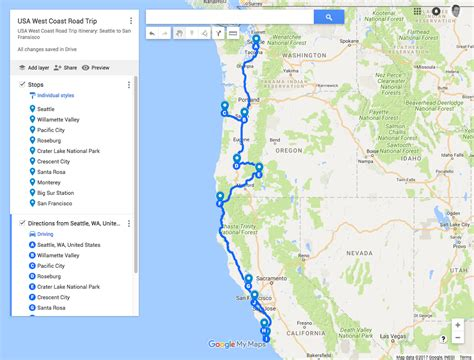 USA West Coast Road Trip Itinerary: Seattle to San