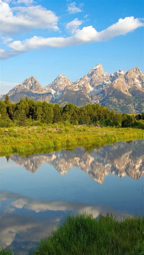 Wallpaper Mountains, Beaver ponds, Tetons, Morning, 4K