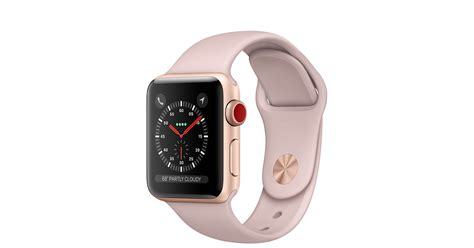 Refurbished Apple Watch Series 3 GPS + Cellular, 38mm Gold