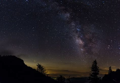 """""""Night Sky at Devil's Courthouse Overlook"""" by Nicholas"""
