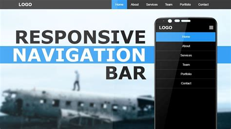 Responsive Navigation Bar With Html CSS and Javascript