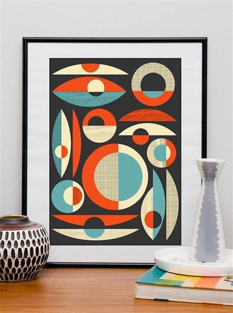 Mid Century modern print Abstract art Poster Modern