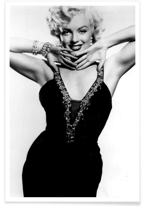Marilyn Monroe in a glamourous black dress Poster | JUNIQE