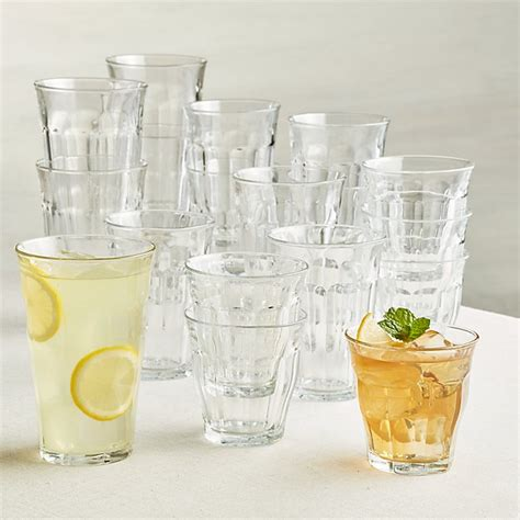 Duralex ® Picardie Glass Tumblers, Set of 18 | Crate and