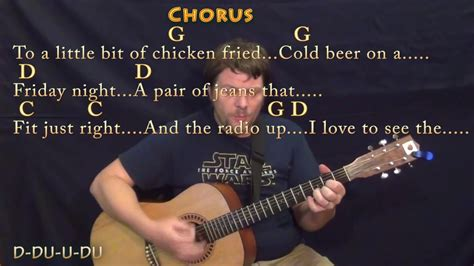 Chicken Fried (Zac Brown) Guitar Cover in G with Chords