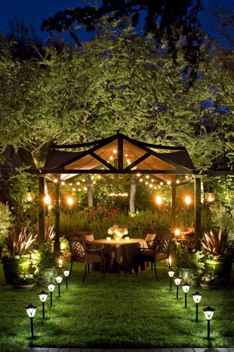 Pergola String Lights Set A Romantic Mood In Your Backyard