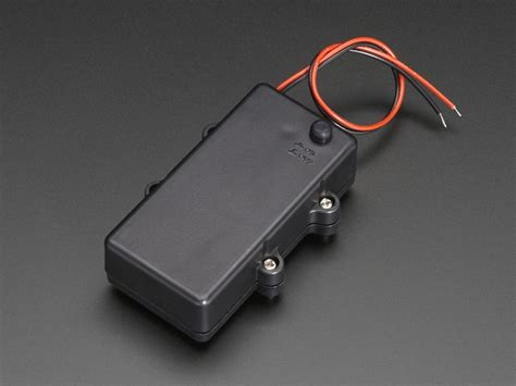 Waterproof 2xAA Battery Holder with On/Off Switch ID: 770