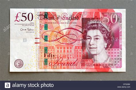 Great Britain UK 50 Fifty Pound Bank Note Stock Photo