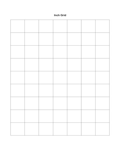 1 Inch Grid Paper Free Download