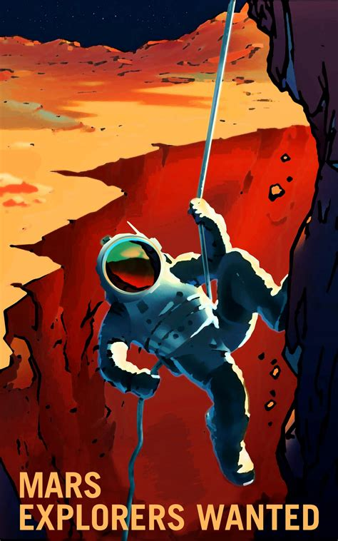 Nasa releases retro posters for its voyage to Mars – how