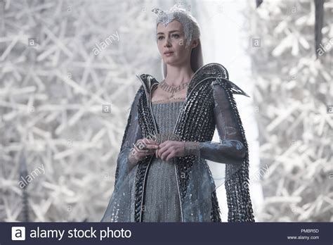 EMILY BLUNT as the Ice Queen Freya assembles an army in